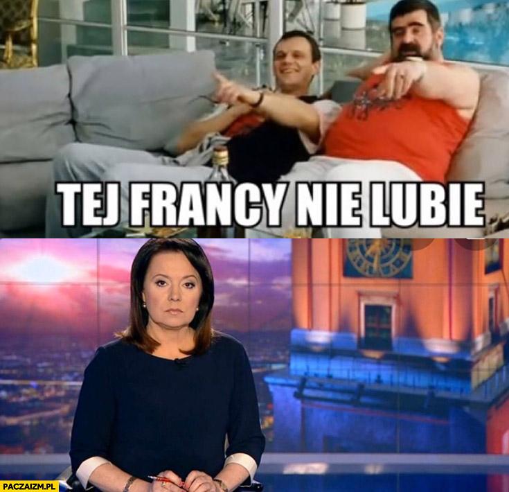 Tej francy nie lubię Holecka Wiadomości TVP