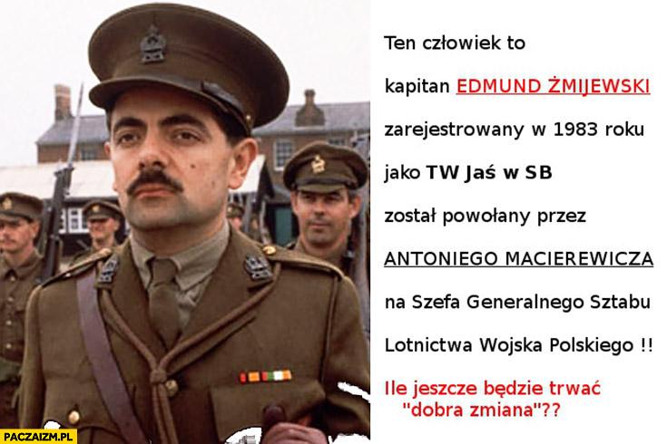 Ten człowiek to kapitan Edmund Żmijewski TW Jaś w SB powołany przez Antoniego Macierewicza na szefa generalnego sztabu lotnictwa wojska polskiego