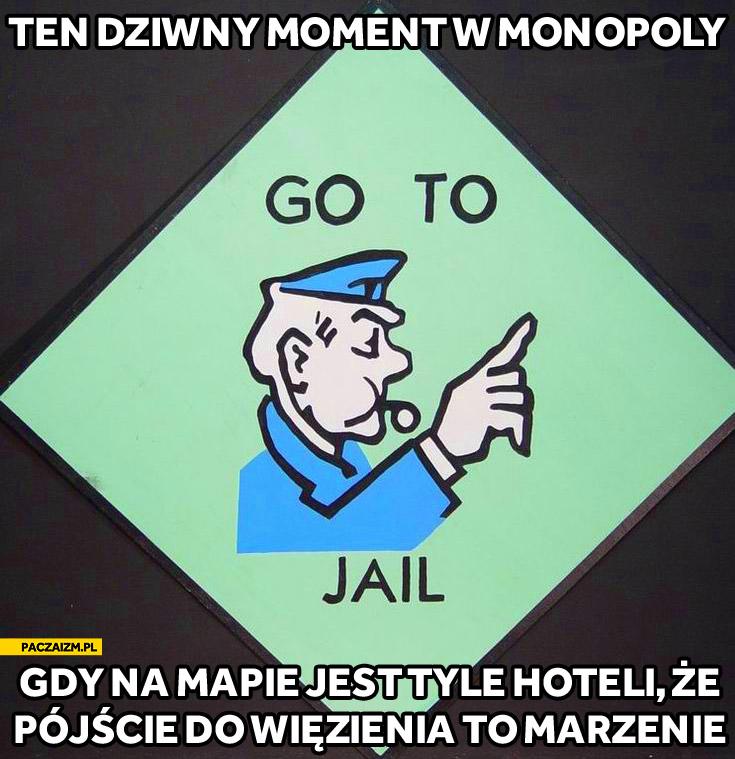 Ten dziwny moment w Monopoly gdy na mapie jest tyle hoteli że pójście do wiezienia to marzenie