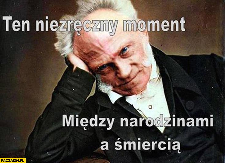 Ten niezręczny moment miedzy narodzinami a śmiercią Schopenhauer