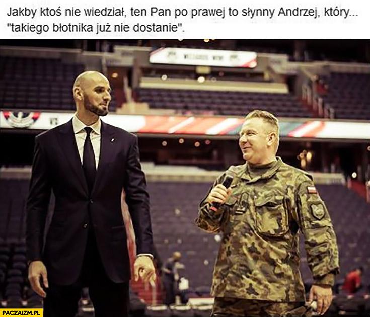 Ten pan po prawej to słynny Andrzej który takiego błotnika już nie dostanie czołg generał żołnierz
