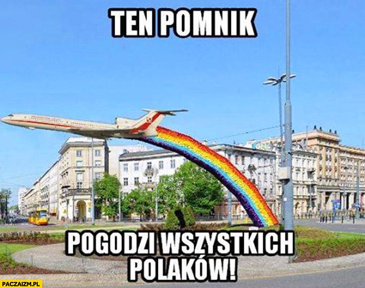 Ten pomnik pogodzi wszystkich Polaków Tupolew tęcza