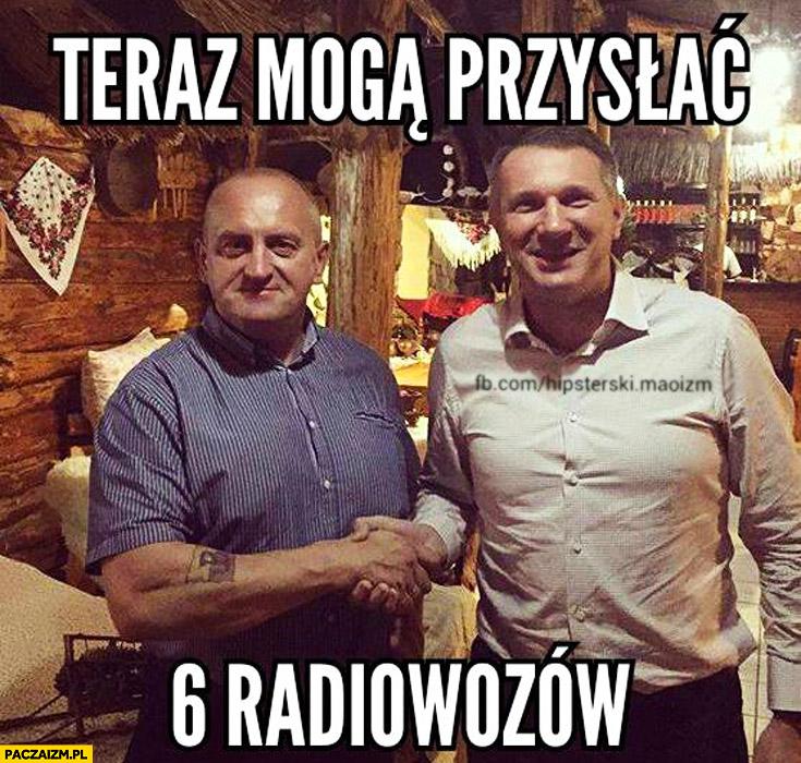 Teraz mogą przysłać 6 radiowozów Wipler Marian Kowalski