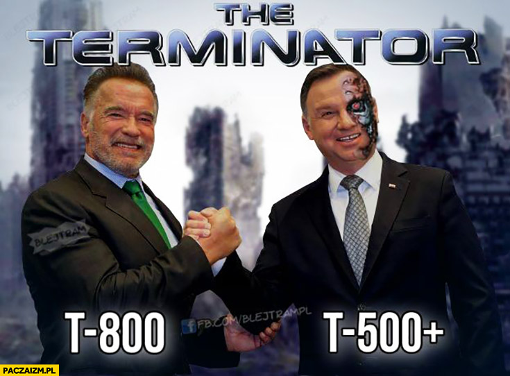 Terminator T-800 T-500+ plus Duda Schwarzenegger