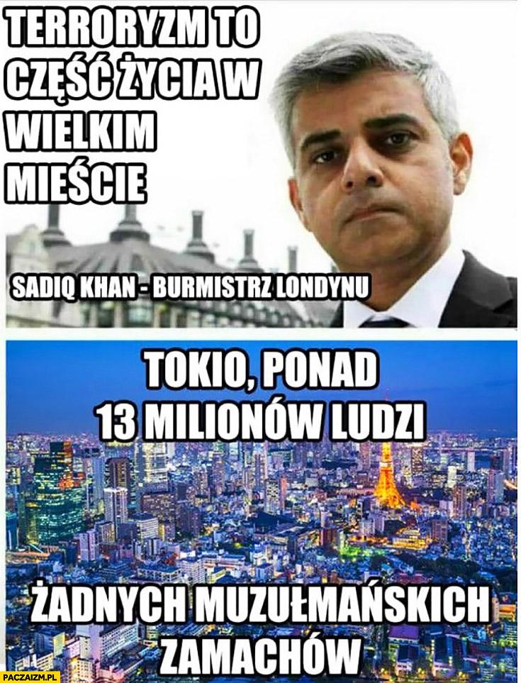 Terroryzm to część życia w wielkim mieście burmistrz Londynu tymczasem Tokio żadnych muzułmańskich zamachów