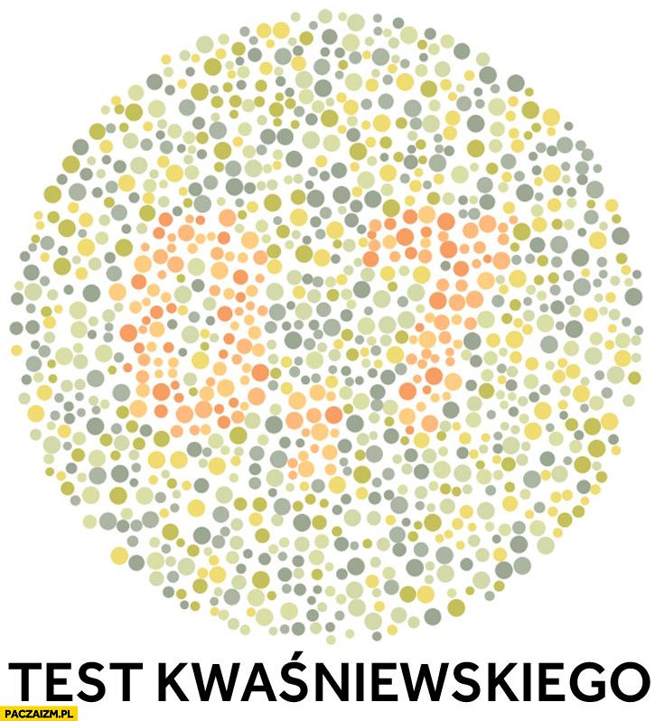 Test Kwaśniewskiego na daltonizm test ishihary