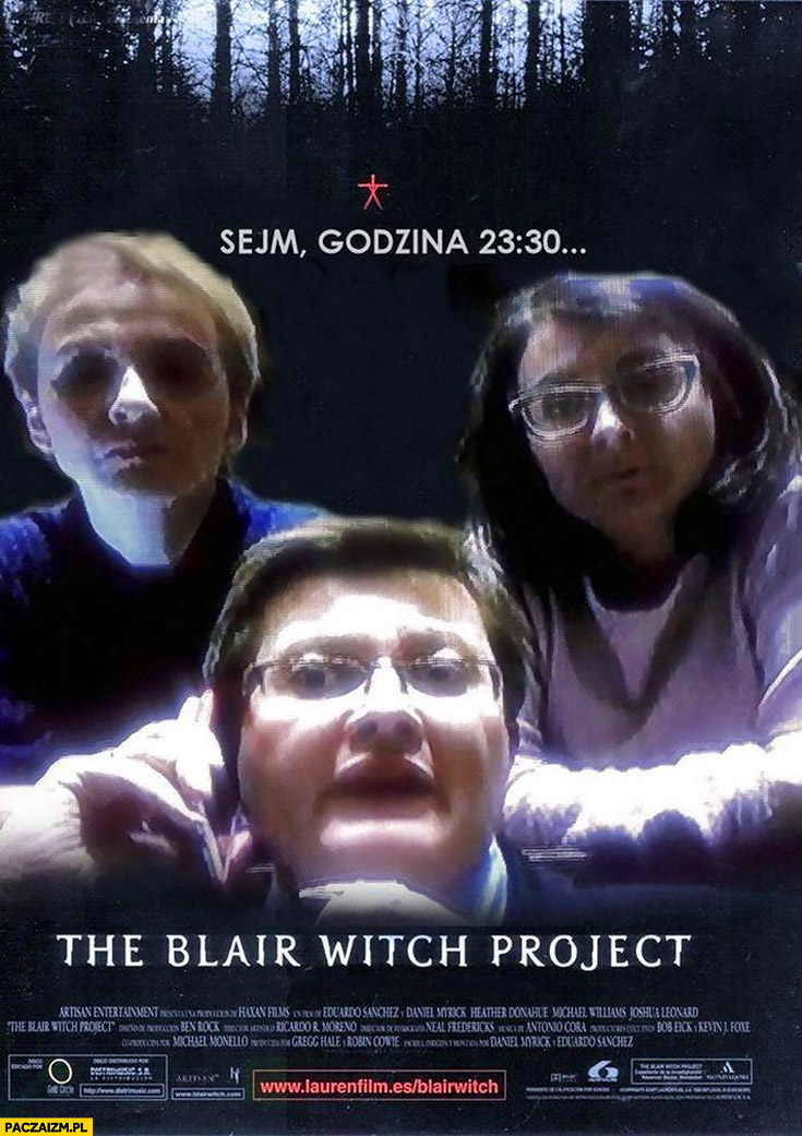 The Blair Witch Project posłanki Nowoczesnej w sejmie o północy plakat filmowy