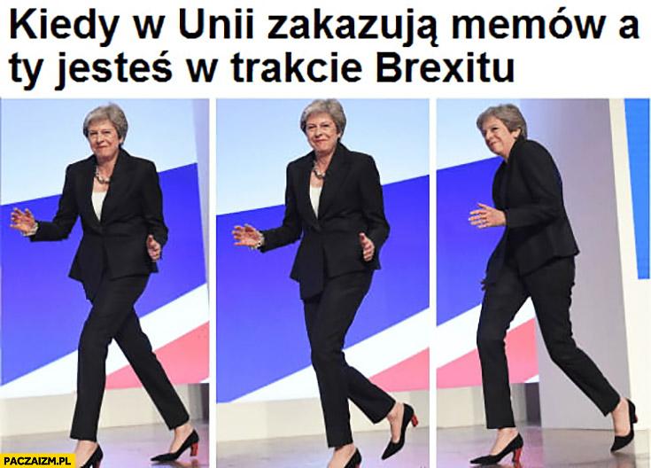 Theresa May kiedy w unii zakazują memów a Ty jesteś w trakcie brexitu