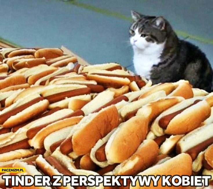 Tinder z perspektywy kobiety kot hotdogi