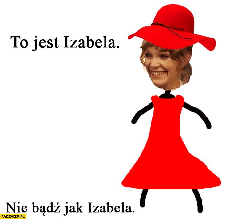 To jest Izabela Łęcka nie bądź jak Izabela