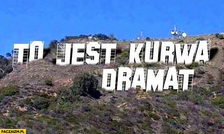 To jest kurna dramat napis Hollywood Zbigniew Stonoga