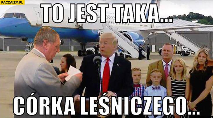 To jest taka córka leśniczego Donald Trump Szyszko