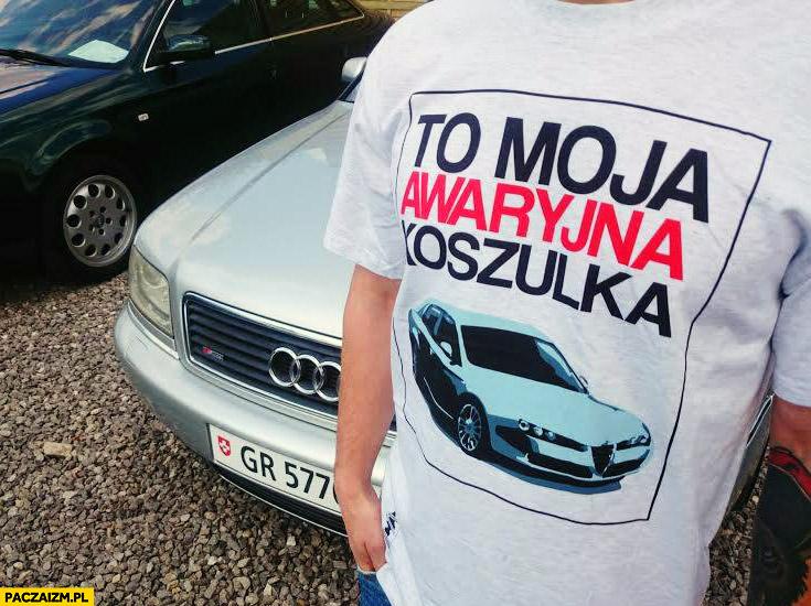 To moja awaryjna koszulka Alfa Romeo