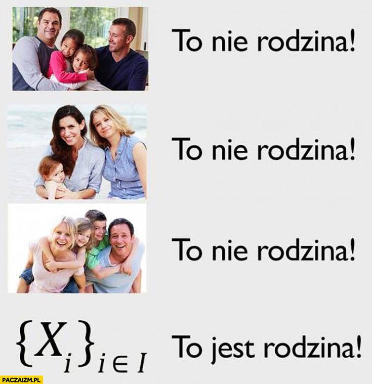 To nie jest rodzina to jest rodzina matematyka