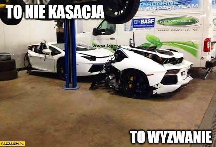 To nie kasacja, to wyzwanie. Lamborghini Aventador w dwóch częściach