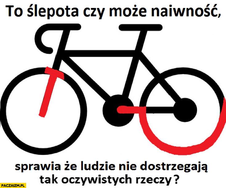 To ślepota czy naiwność że ludzie nie widzą sierp i młot rower