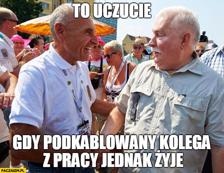 To uczucie gdy podkablowany kolega z pracy jednak żyje Lech Wałęsa TW Bolek