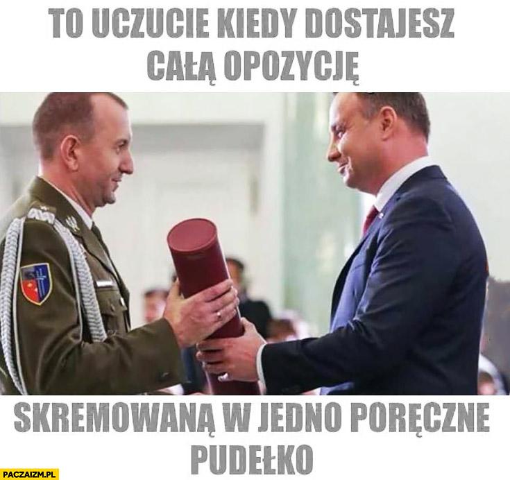 To uczucie kiedy dostajesz całą opozycję skremowana w jedno poręczne pudełko Andrzej Duda