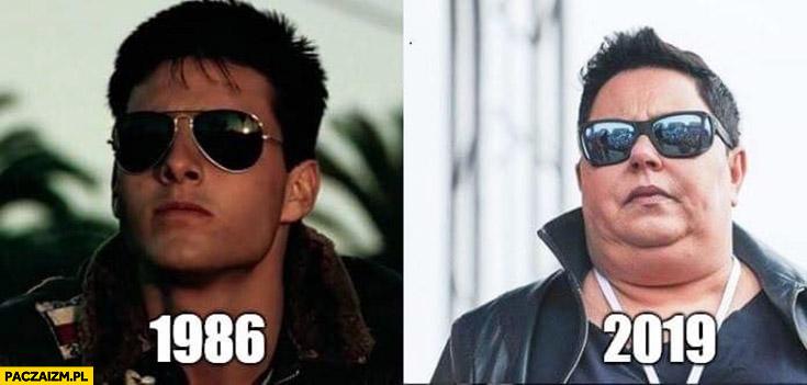 Tom Cruise 1986 vs 2019 Dorota Wellman porównanie
