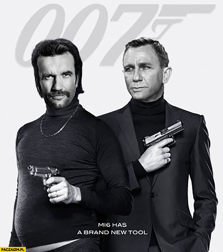 Tomasz Kot James Bond 007 przeróbka plakat filmowy Daniel Craig