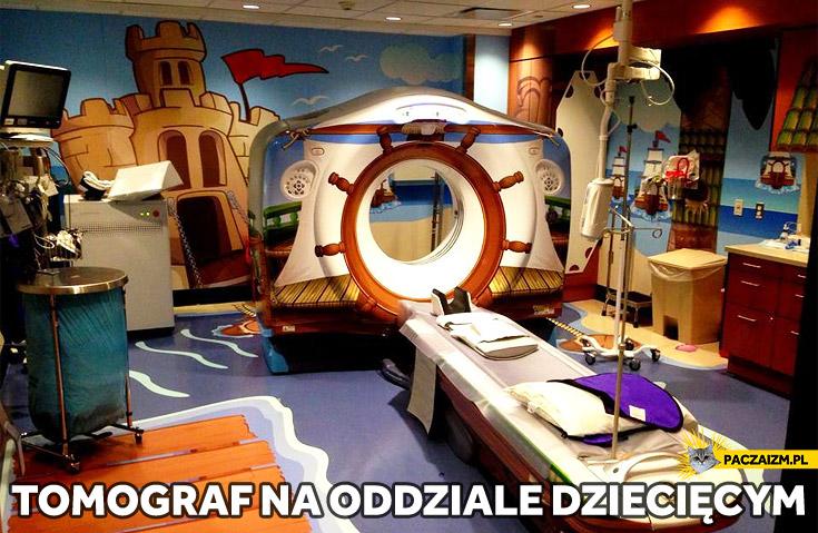 Tomograf na oddziale dziecięcym