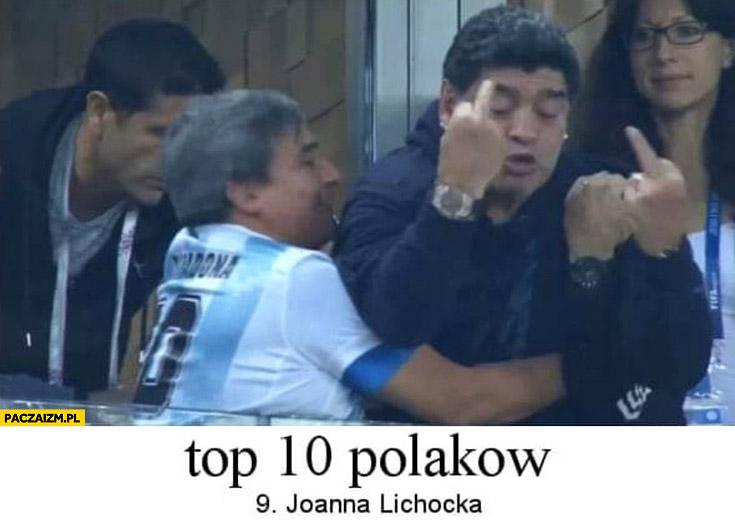 Top 10 Polaków: Joanna Lichocka środkowy palec Diego Maradona fak fakery