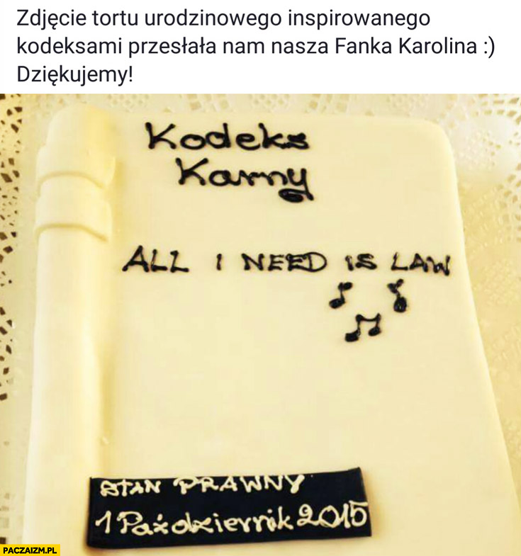Tort studenta prawa kodeks karny all I need is law