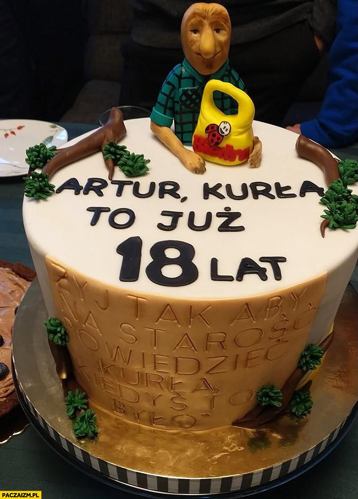 Tort urodzinowy małpa nosacz typowy Polak małpa