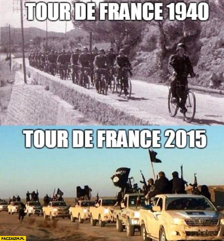 Tour de France 1940 Niemcy na rowerach, Tour de France 2015 ISIS