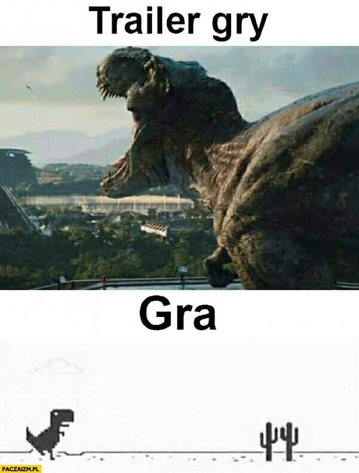 Trailer gry vs jak wygląda gra naprawdę fail Godzilla dinozaur