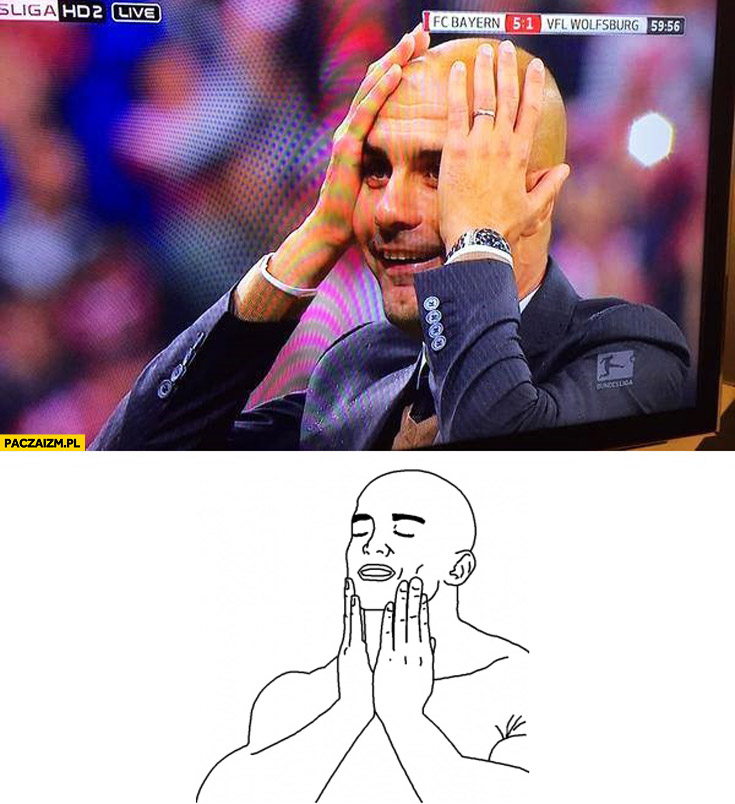 Trener  FC Bayern Lewandowski 5 bramek mem to uczucie