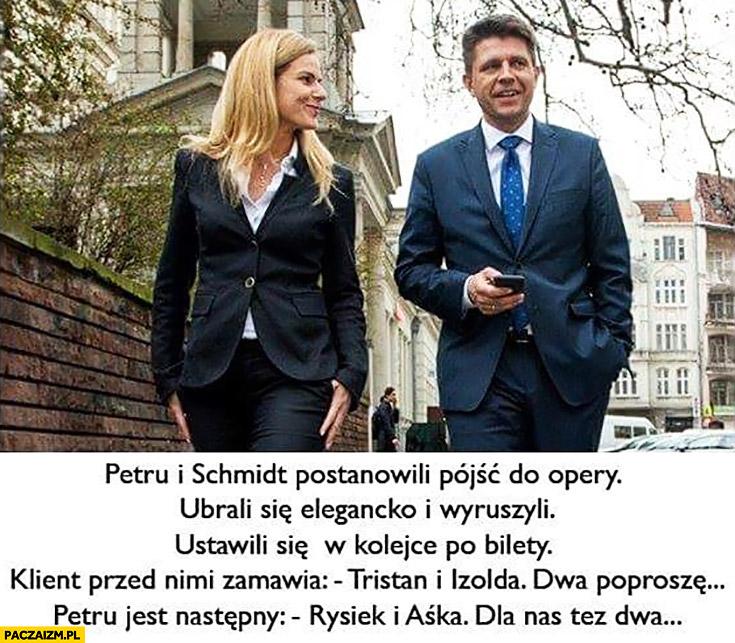 Tristan i Izolda, dwa poproszę, Rysiek i Aśka dla nas też dwa. Petru Schmidt w teatrze