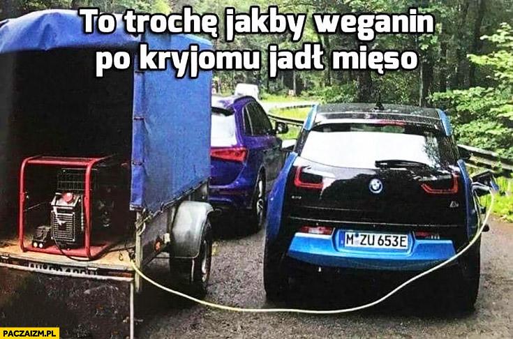 Trochę jakby weganin po kryjomu jadł mięso BMW i3 elektryczne ładowane z agregatu