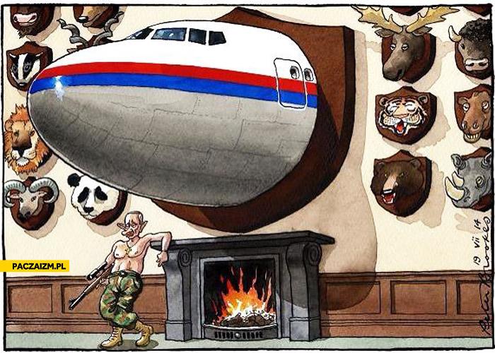 Trofeum Putina samolot malezyjskich linii lotniczych