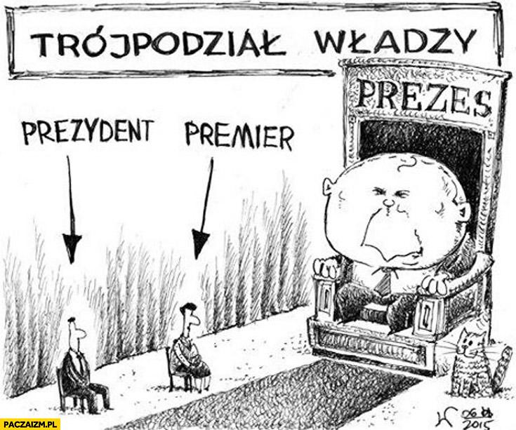 Trójpodział władzy prezydent premier prezes