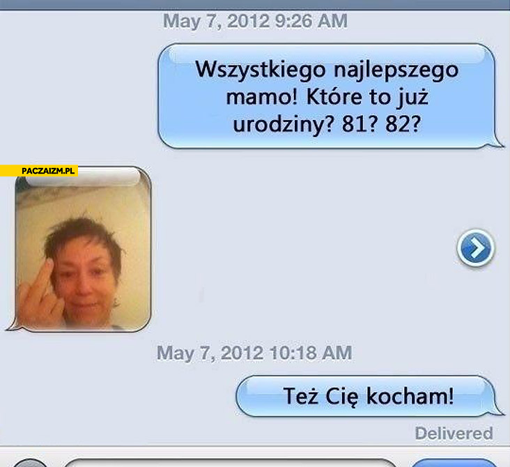 Trollowane życzenia dla mamy