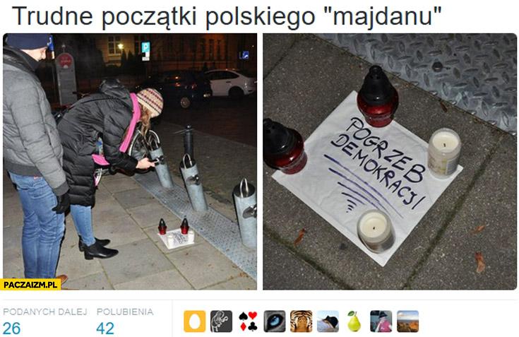 Trudne początki polskiego Majdanu pogrzeb demokracji