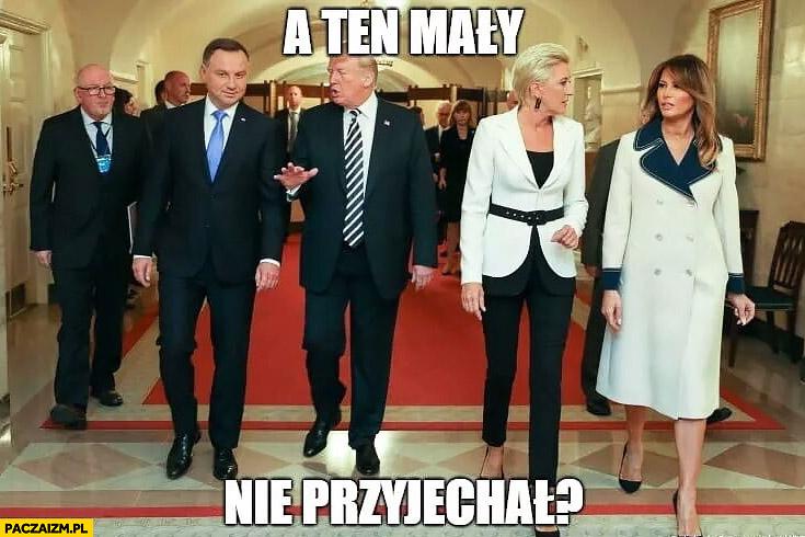 Trump do Dudy a ten mały nie przyjechał? Kaczyński