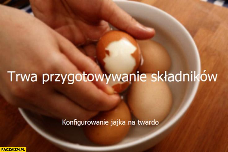Trwa przygotowywanie składników konfigurowanie jajka na twardo instalacja Windows