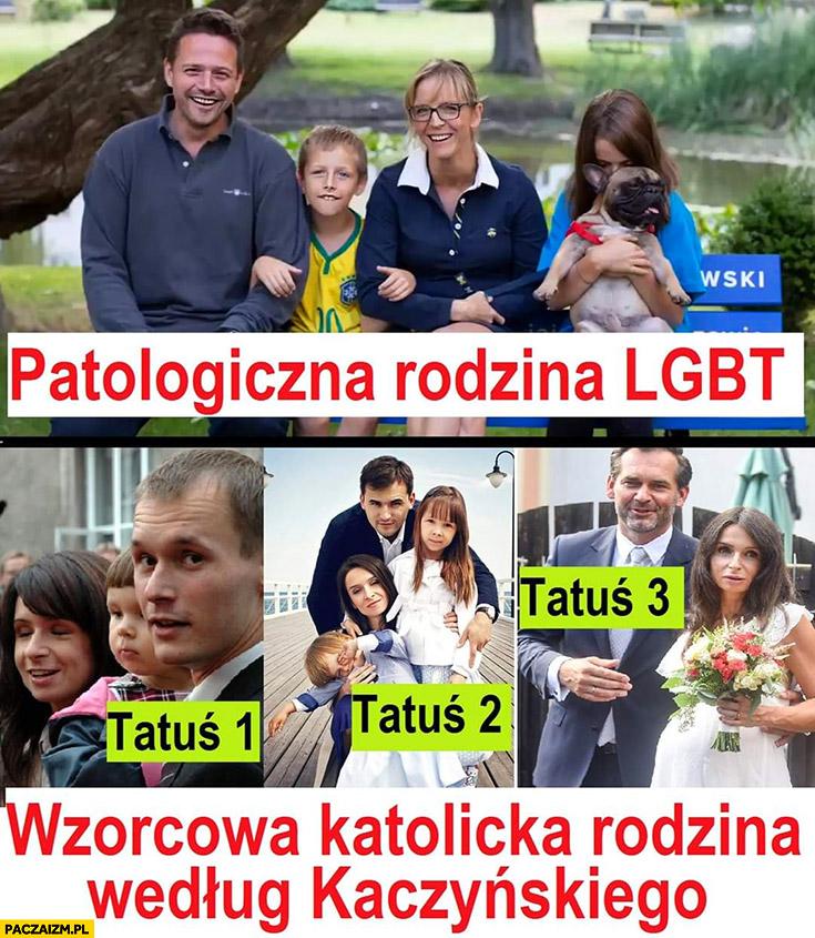 Trzaskowski patologiczna rodzina LGBT vs wzorcowa katolicka rodzina według Kaczyńskiego Marta Kaczyńska tatuś 1 2 3