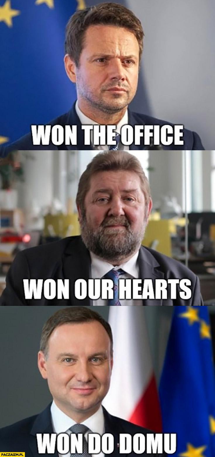 Trzaskowski won the office, Żółtek won our hearts, Duda won do domu
