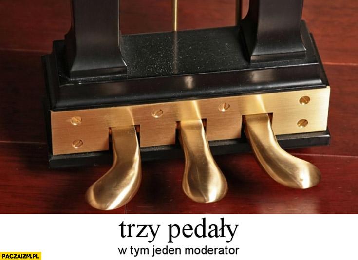 Trzy pedały w tym jeden moderator pianino fortepian