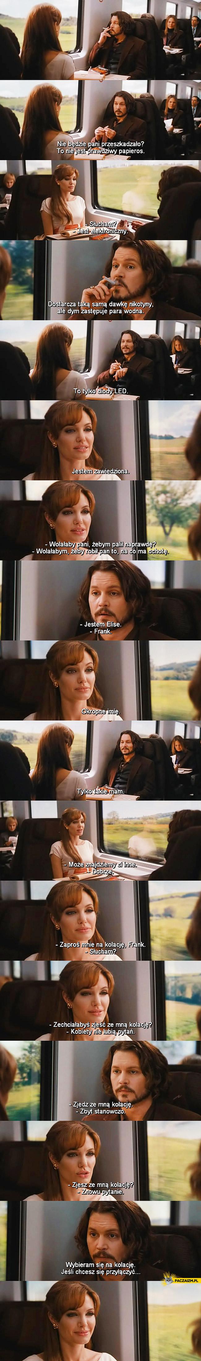 Turysta podryw Angelina Jolie Johnny Depp