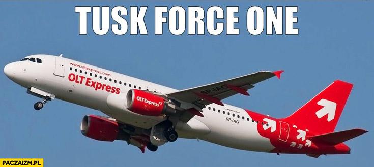 Tusk Force One samolot OLT Express Amber Gold