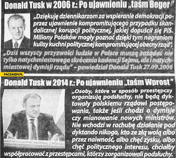 Tusk o taśmach 2006 2014