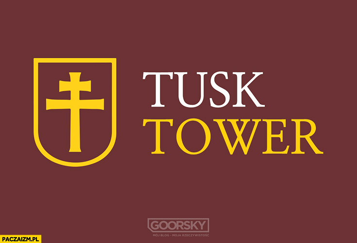 Tusk tower logo Amber Gold przeróbka Goorsky