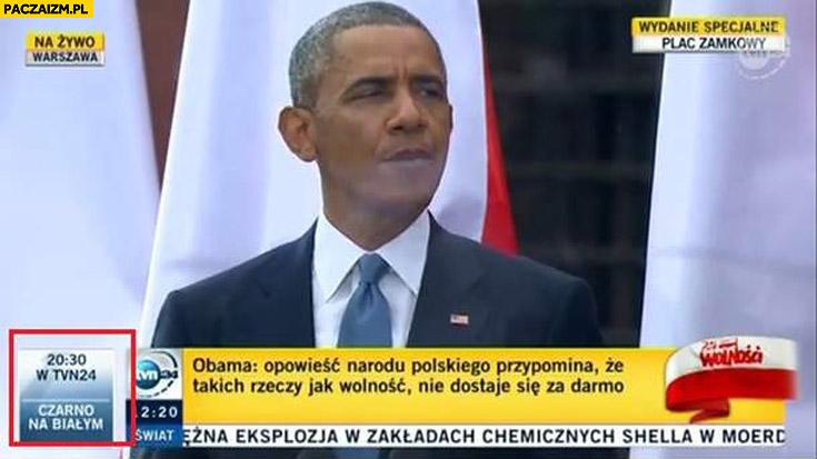 TVN czarno na białym Obama