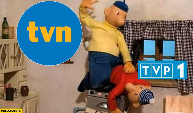TVN dominuje nad TVP bajka sąsiedzi