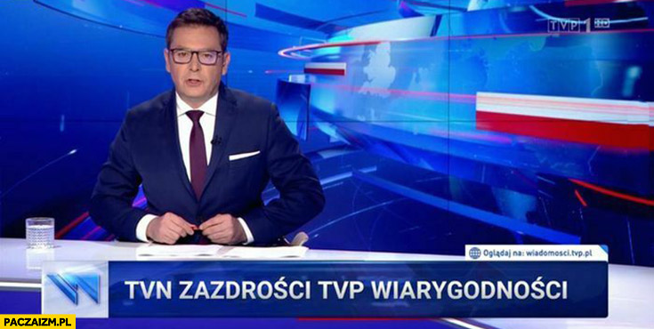 TVN zazdrości TVP wiarygodności pasek wiadomości TVP