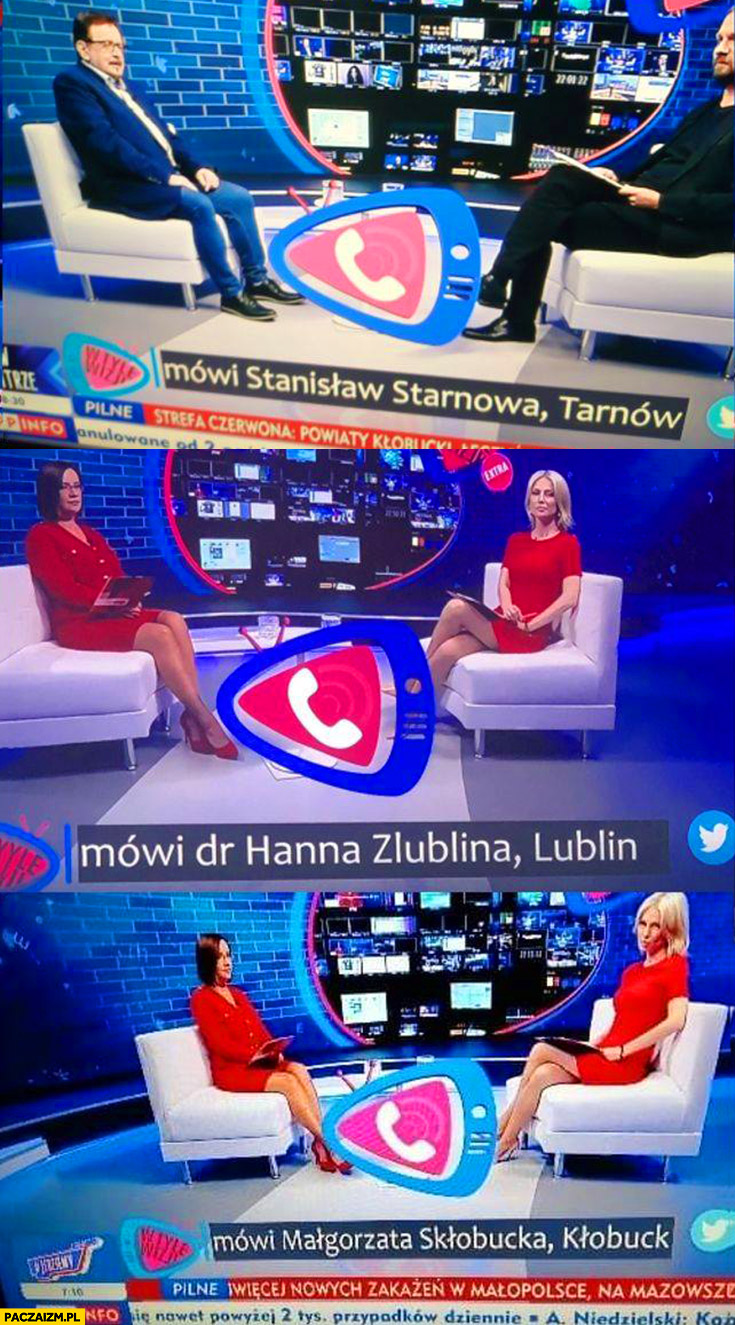 TVP podpisy dzwoniących Stanisław Starnowa, dr Hanna Zlublina, Małgorzata Skołbucka